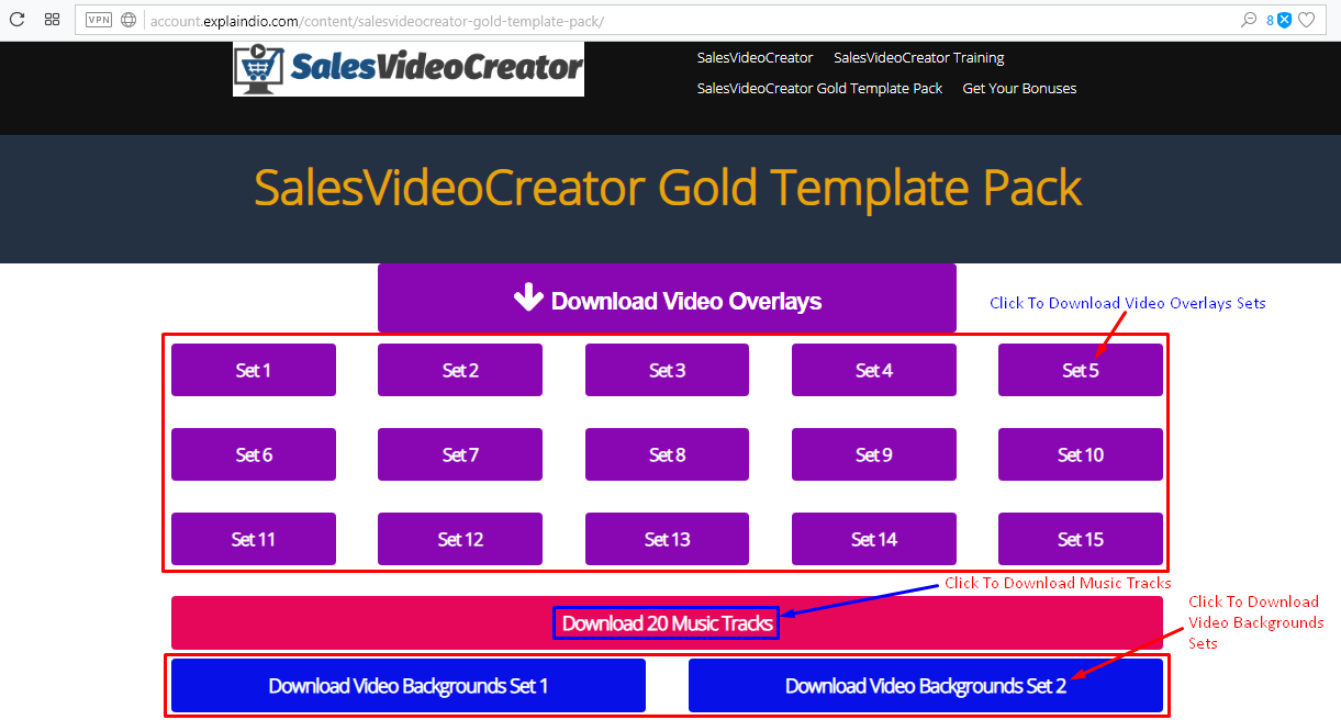 How Can I Find My SalesVideoCreator Gold Pack - 20 kinetic