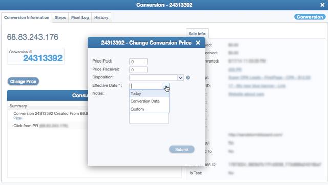 Change Conversion Price