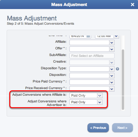 Step 2 - Mass Price Adjustment