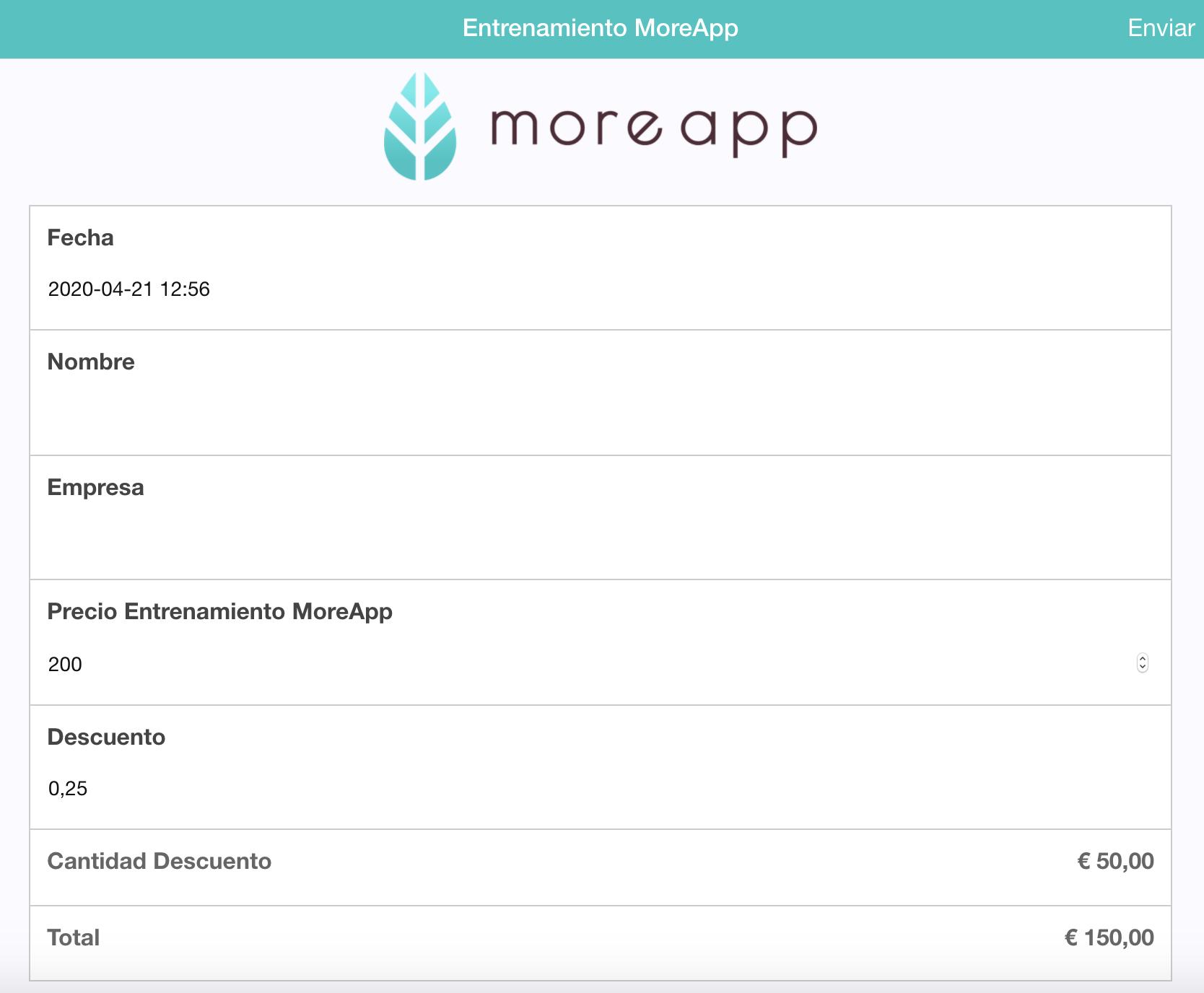 Calcula un Descuento en tu App MoreApp