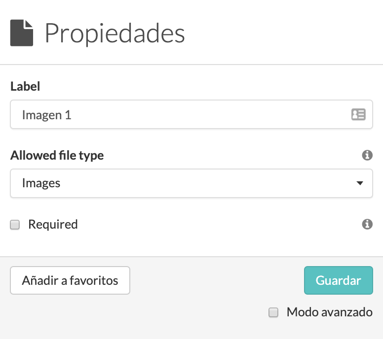 Configuración widget-File MoreApp