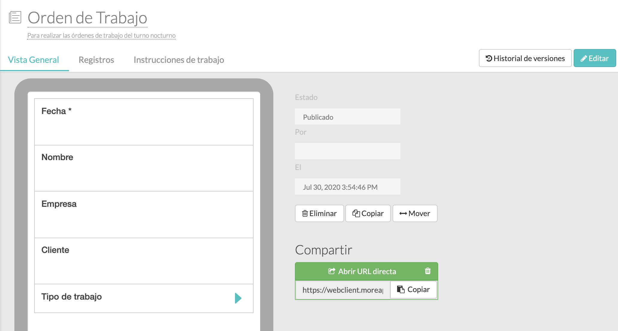 descripción Plataforma MoreApp