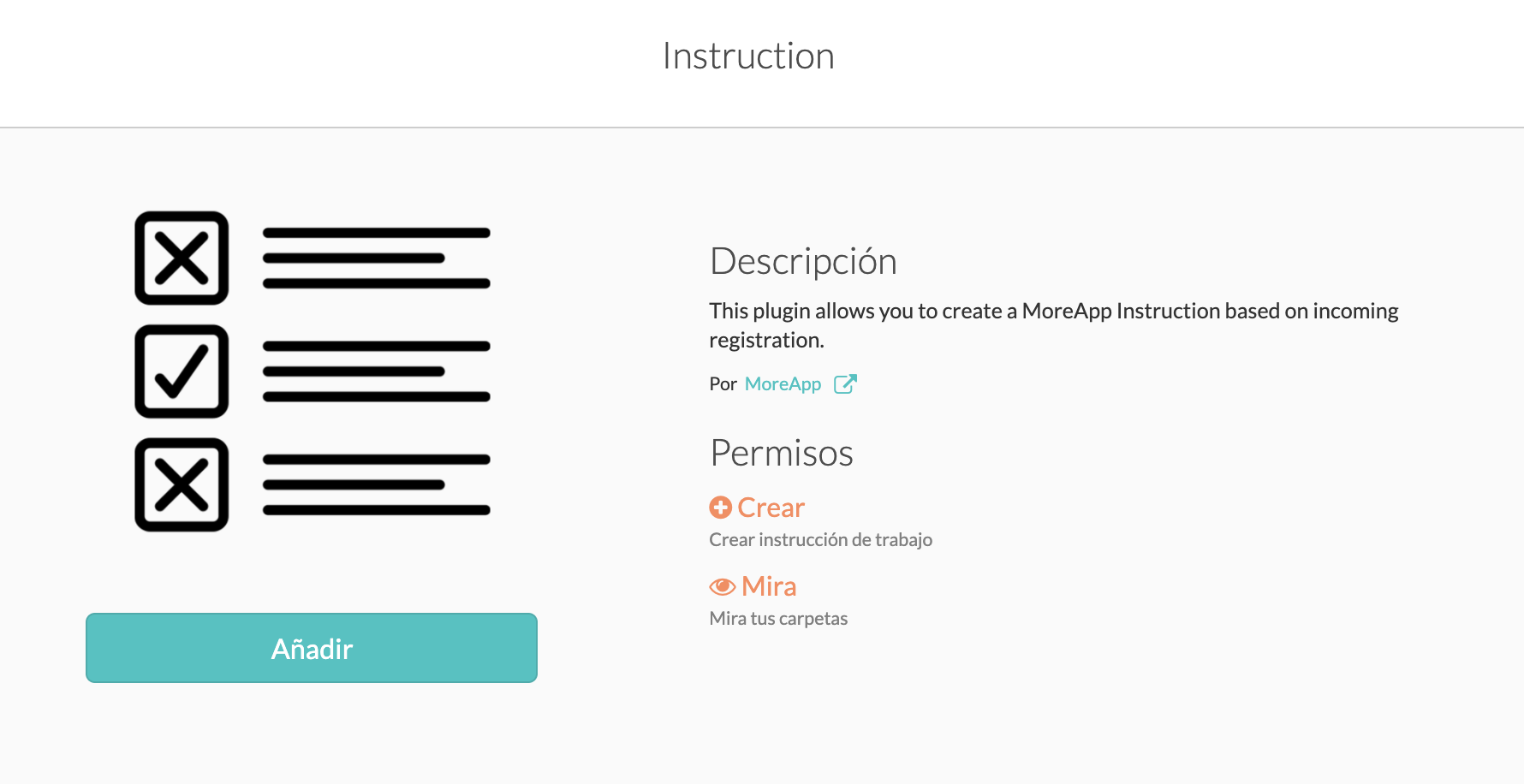 Integracion MoreApp Instruction