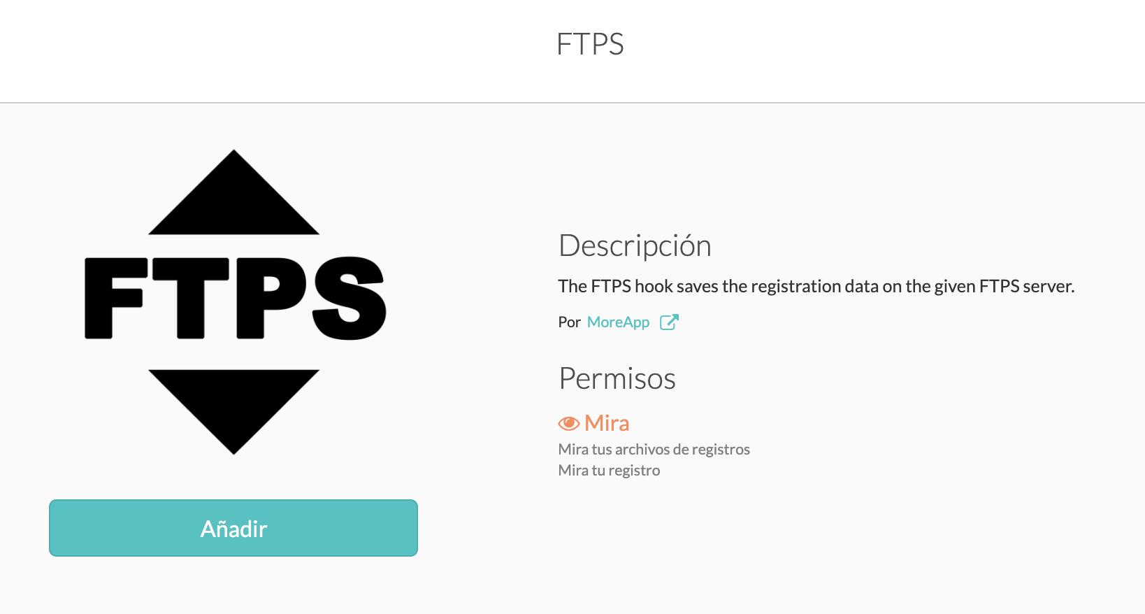 Integración MoreApp-FTPS