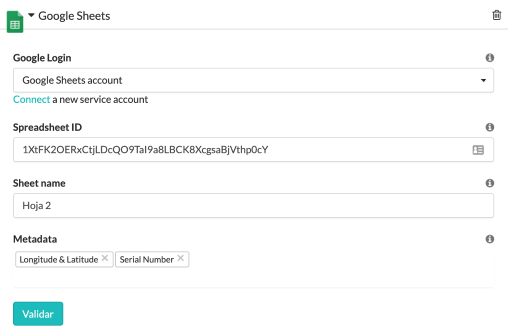 Configura tu GSheets con MoreApp