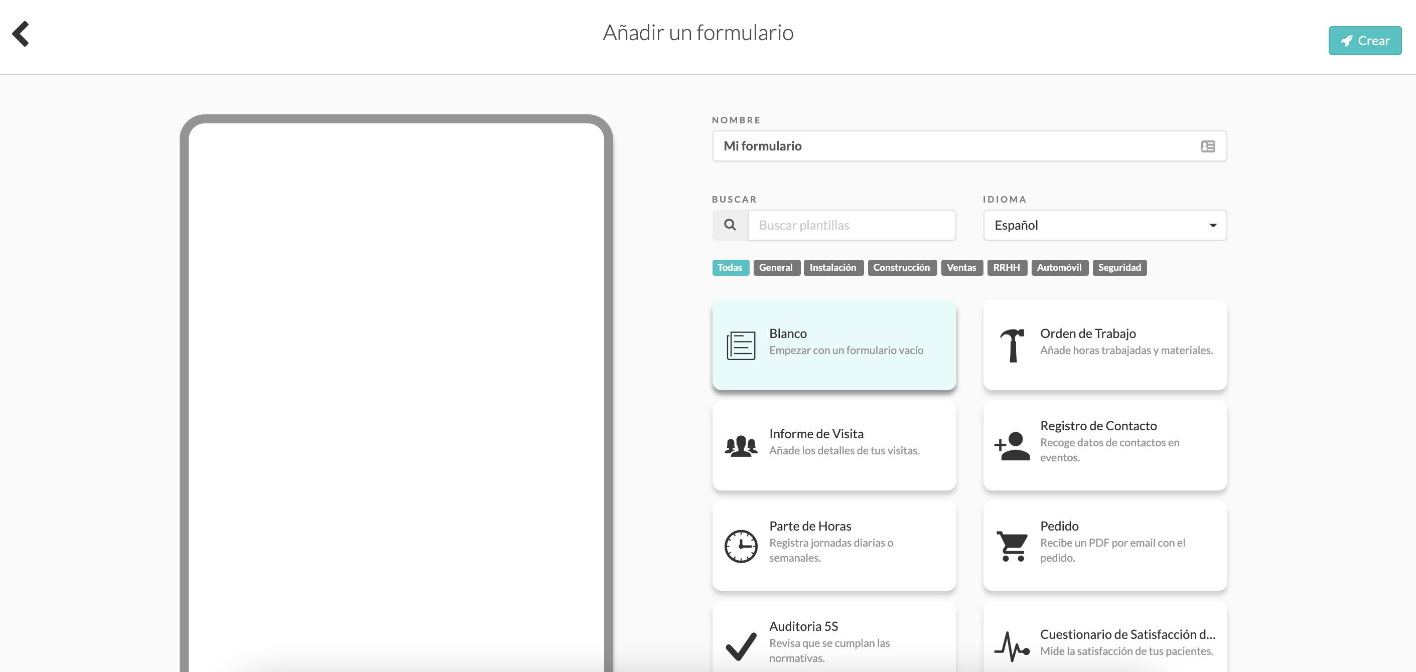 Nuevo Formulario MoreApp