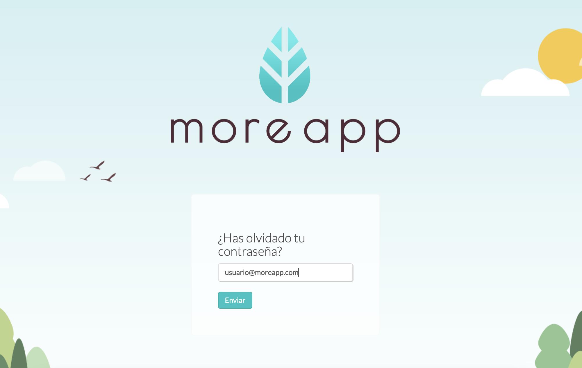 Enviar Nueva Contraseña MoreApp