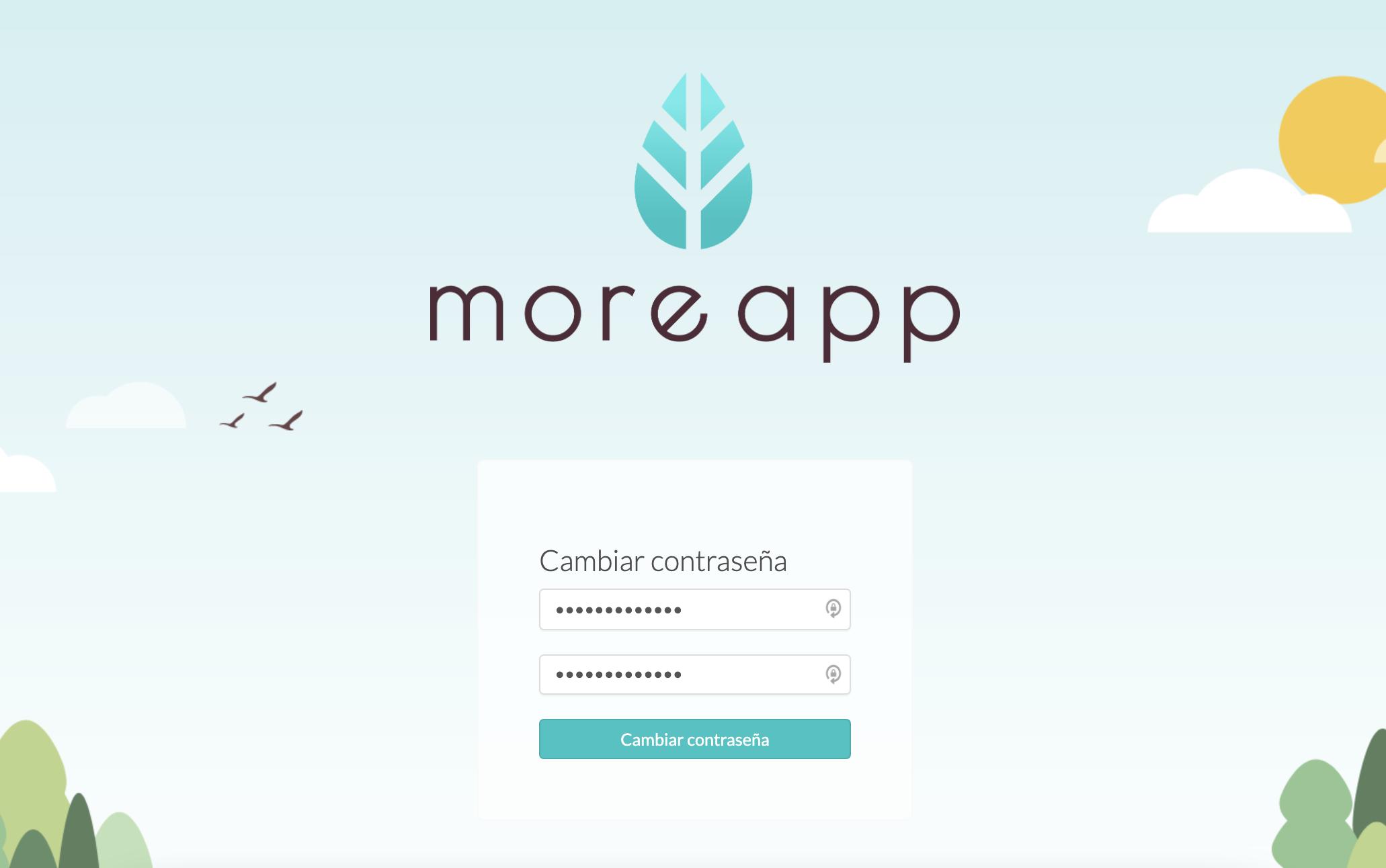 Cambiar Contraseña MoreApp