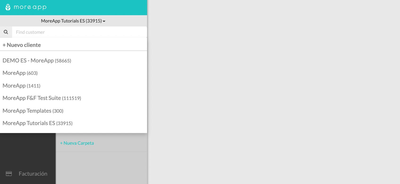 Crea un Nuevo Cliente en MoreApp