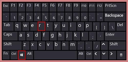 Windows key and the R key