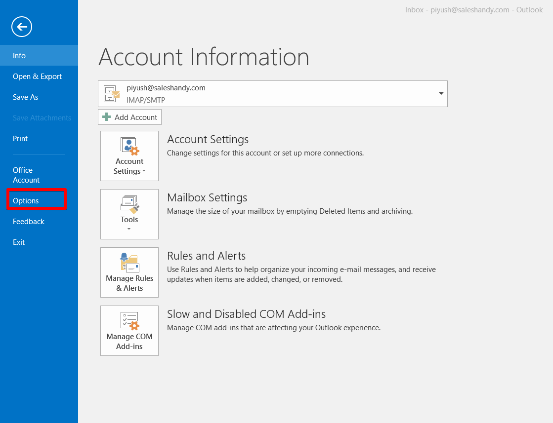 Why is the SalesHandy Add-in not showing in outlook even