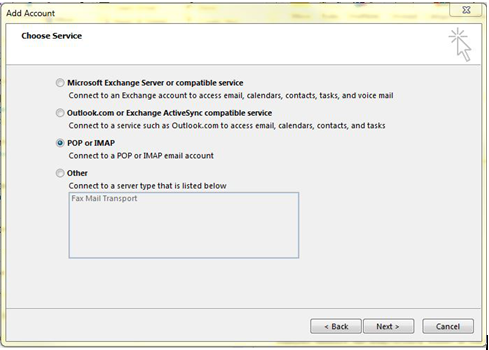 How to setup email account in Microsoft Outlook 2013
