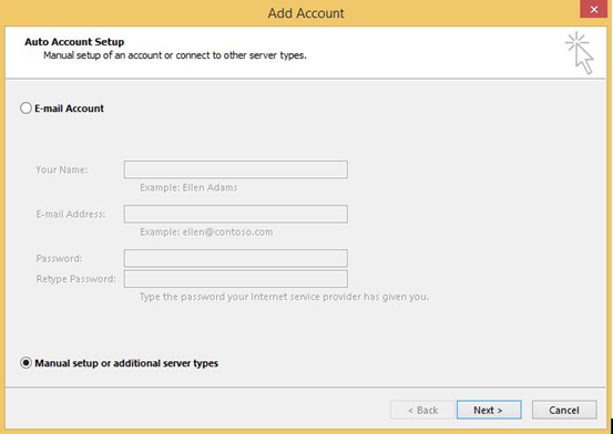 How to setup email account in Microsoft Outlook 2016 : Exabytes my