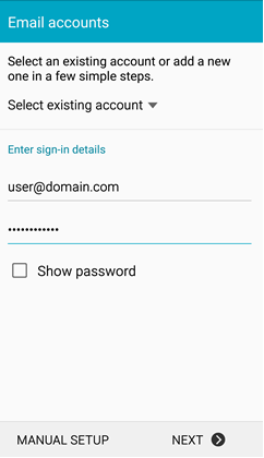 How to setup email account in Android Smartphone : Exabytes com (US