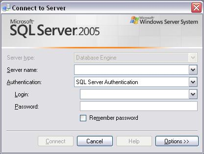 Using Microsoft SQL Server Management Studio Express to