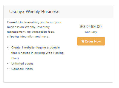 How to add Weebly to BeCloud Hosting Plan : Usonyx