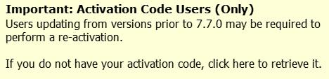 Activation Code Center