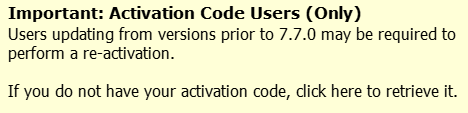 Activation Code Center