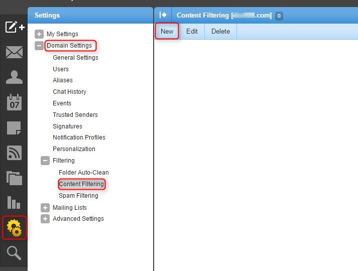 How to create Content Filtering Rules in Smartermail (to