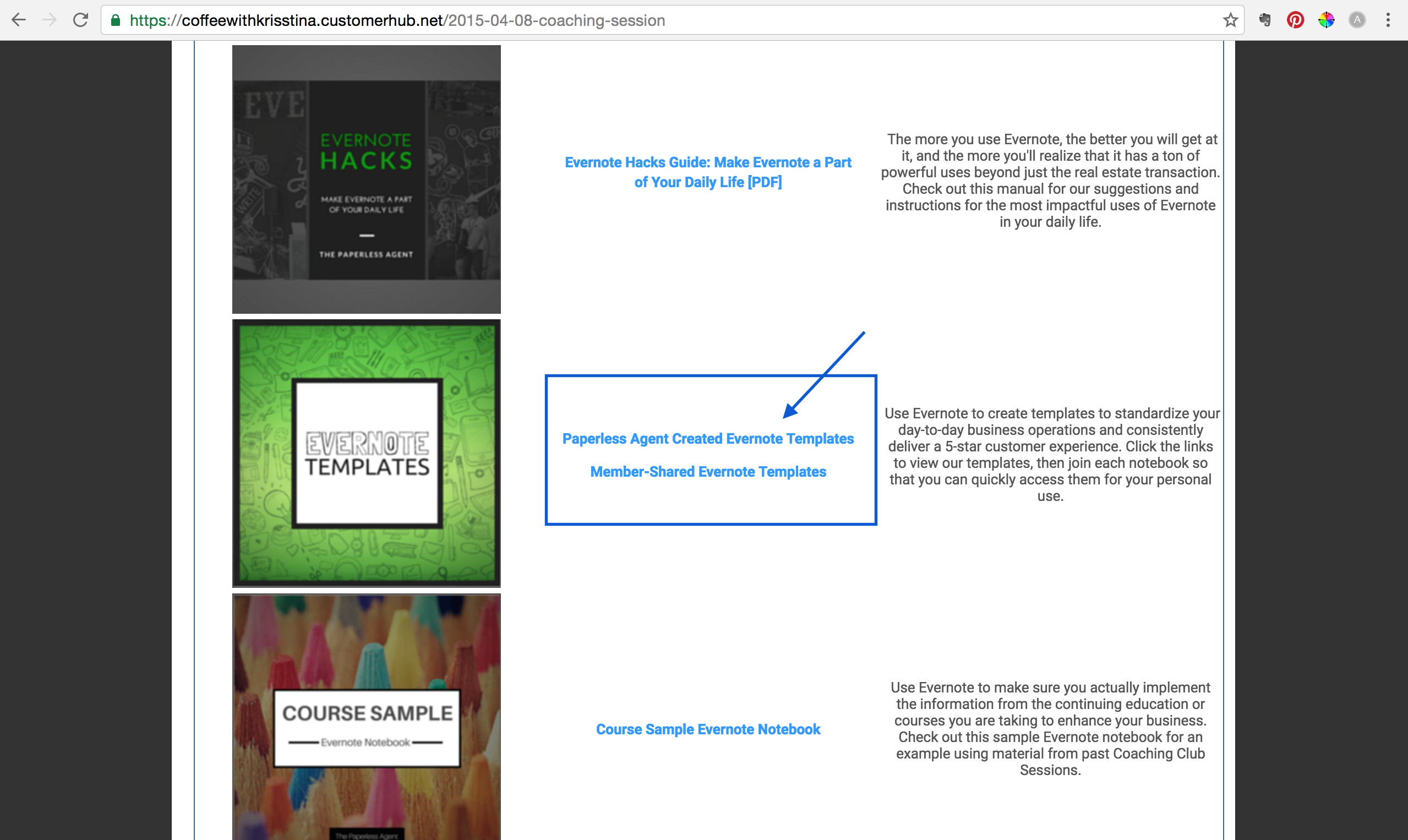 How-To Access Evernote Business Templates : The Paperless Agent