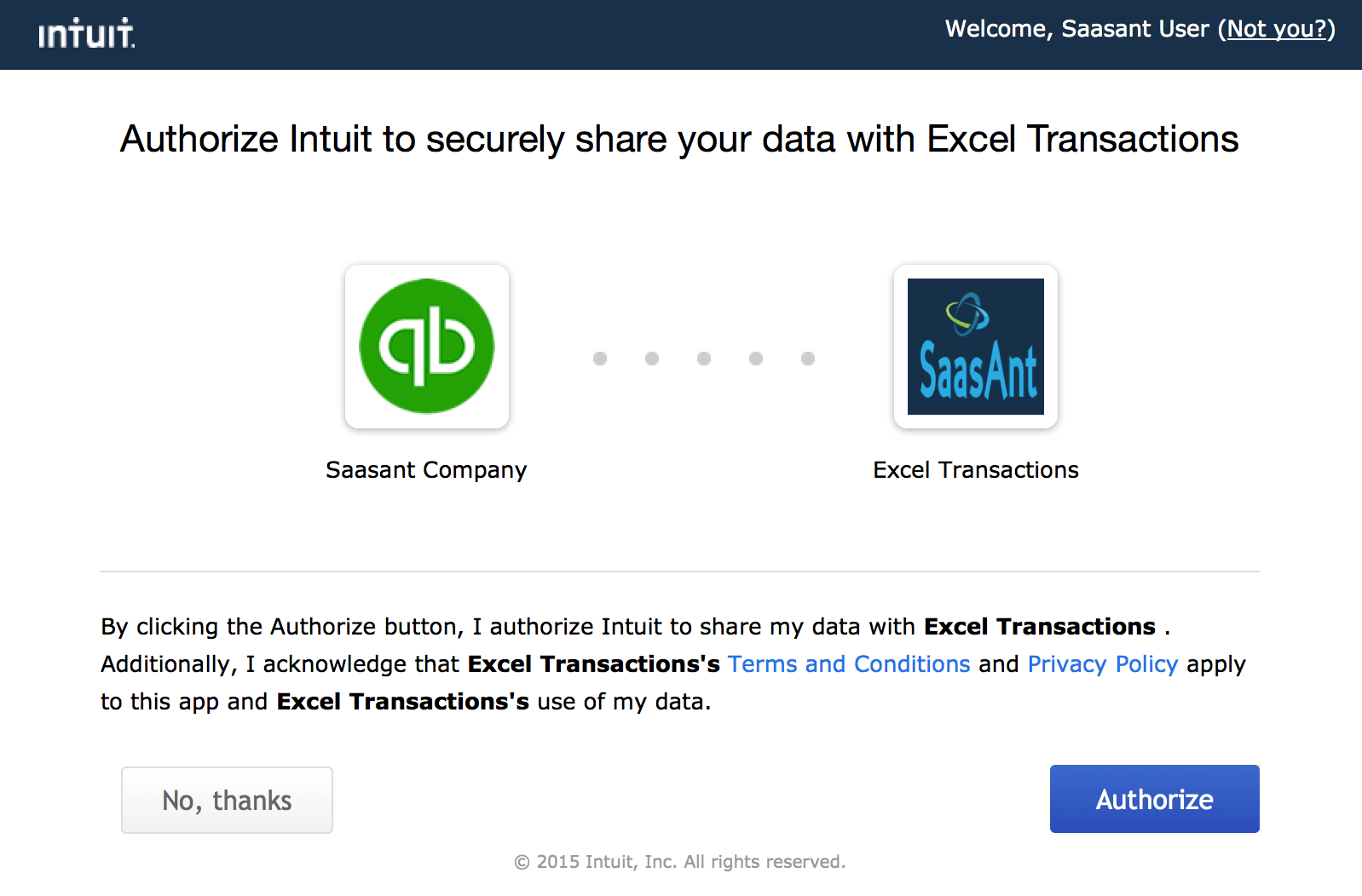 Connect SaasAnt Transactions (Online)