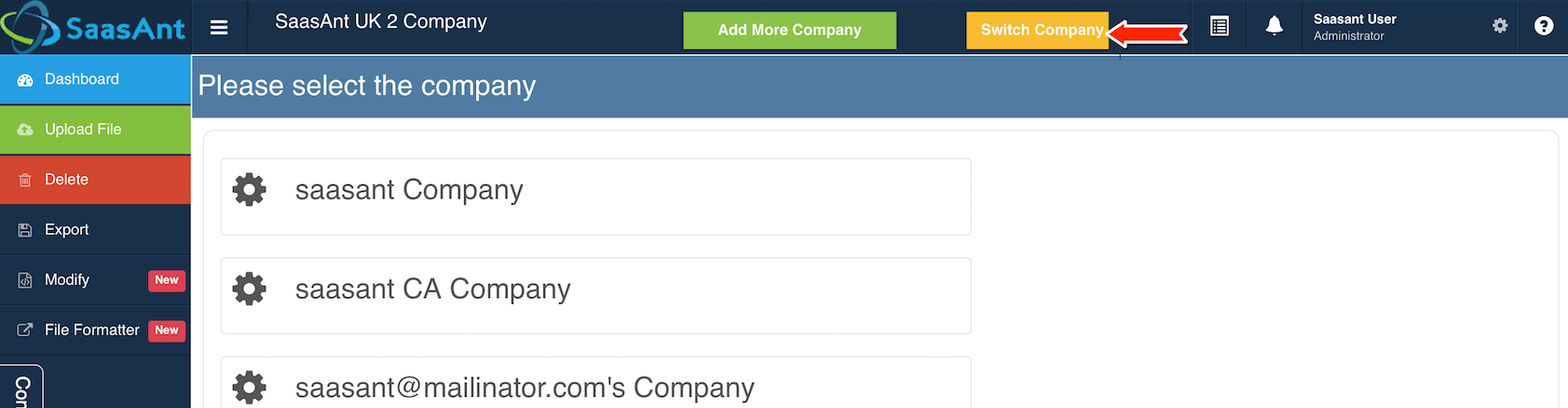 How to add Multiple Companies or Client Companies to Excel