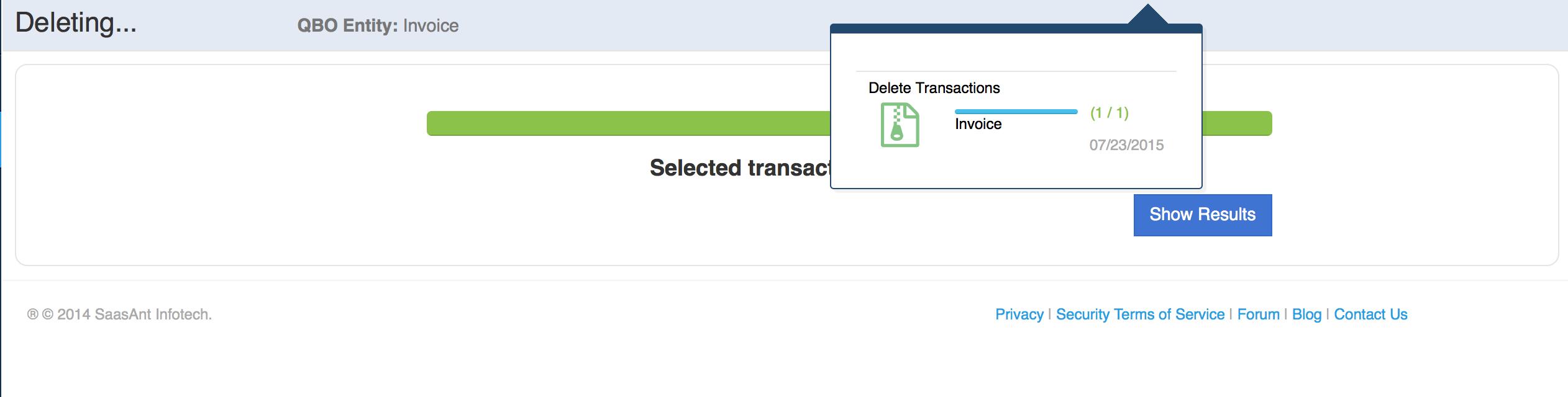 Delete transactions in QuickBooks