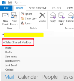How to open and use a shared mailbox in Outlook 2016 and