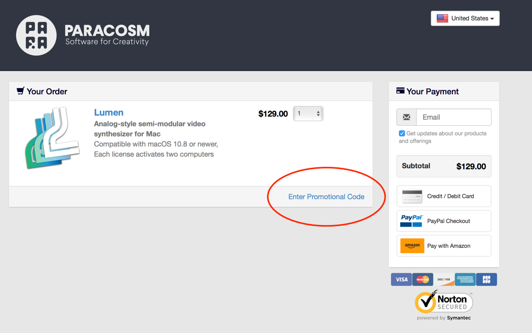 do you offer an educational discount on lumen paracosm support