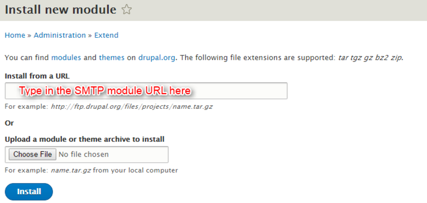 How to configure Drupal SMTP module to send mail : Usonyx