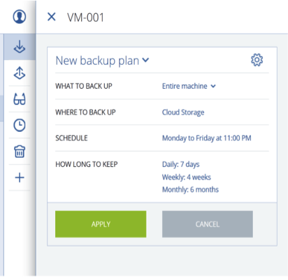 Create Backup Policy To Backup Your Server VM PC Exabytescom - Server backup plan template