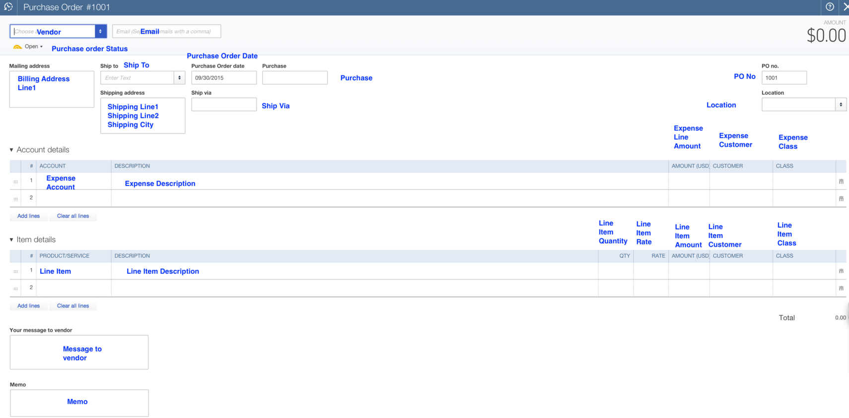 Import Purchase Orders into QuickBooks Online
