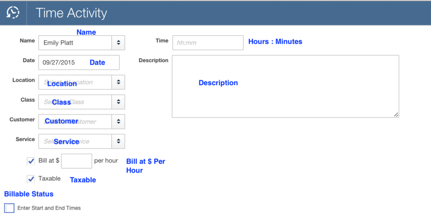 Import Time Activities into QuickBooks Online