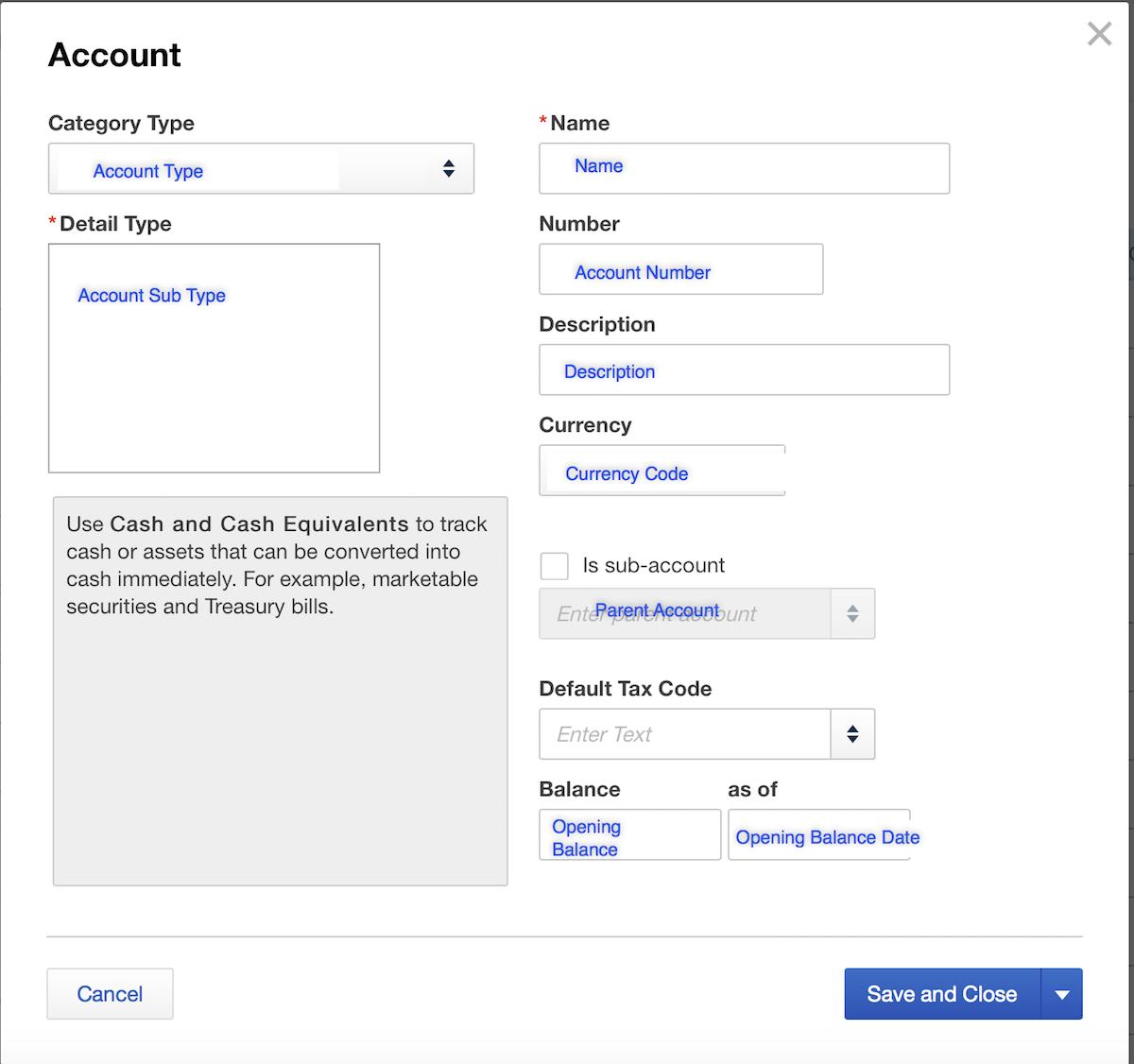 Import Accounts into QuickBooks Online