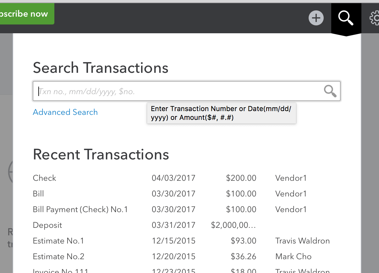 Imported Transactions in QuickBooks Online