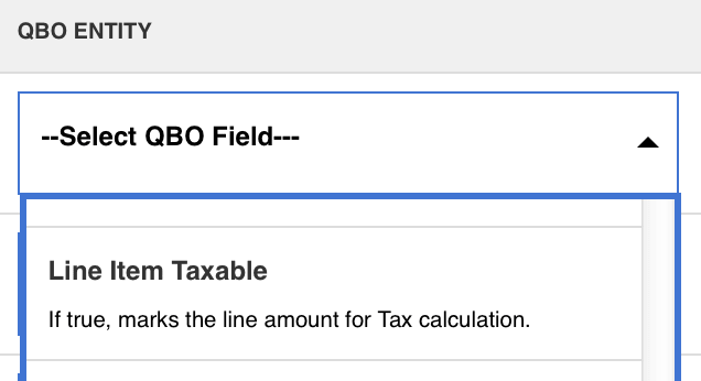 field mapping in quickbooks
