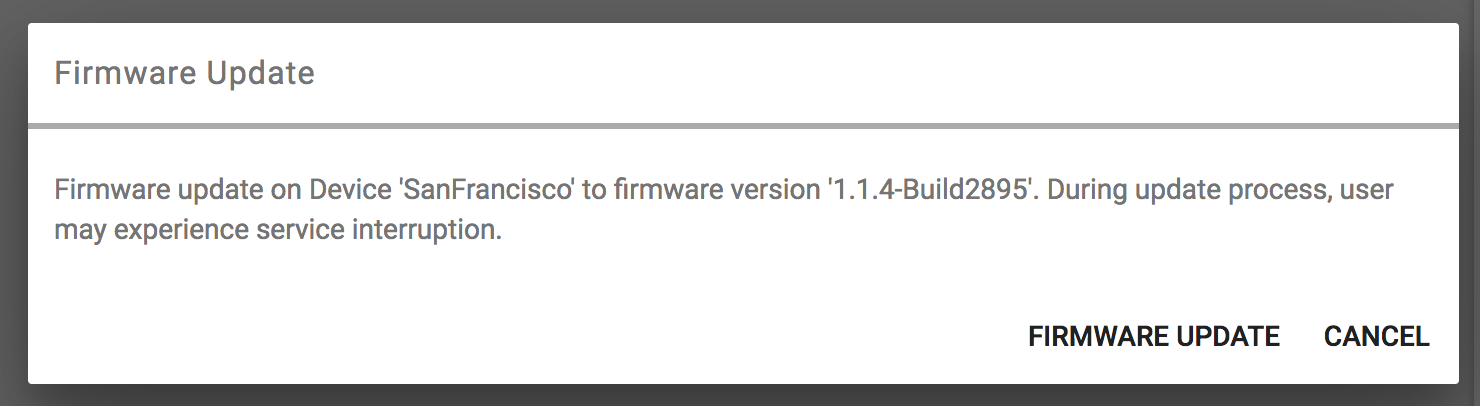 firmware confirm