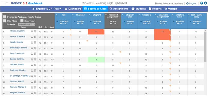 gradebook overview aeries software