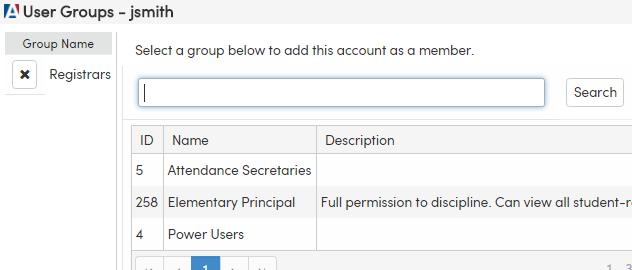 Group Association form