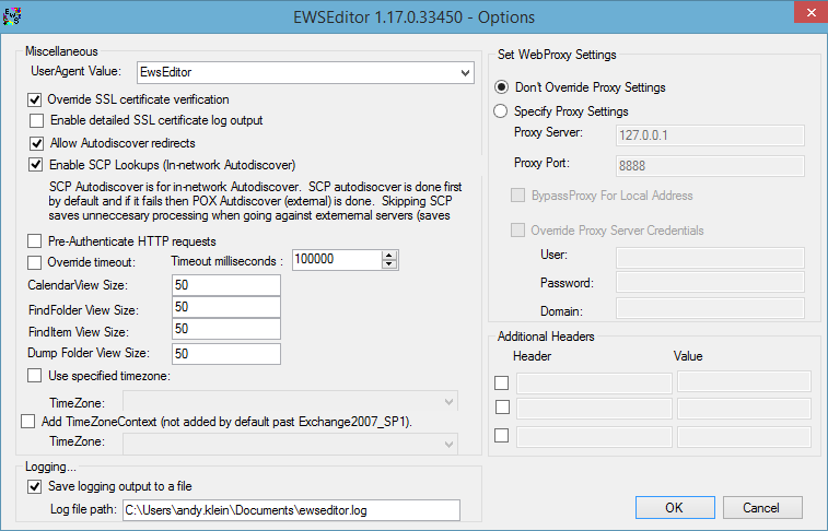 Verbindungsprüfung mit EWSEditor : Server-Eye