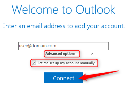 How to setup pop3 account with SSL in Microsoft Outlook 2016