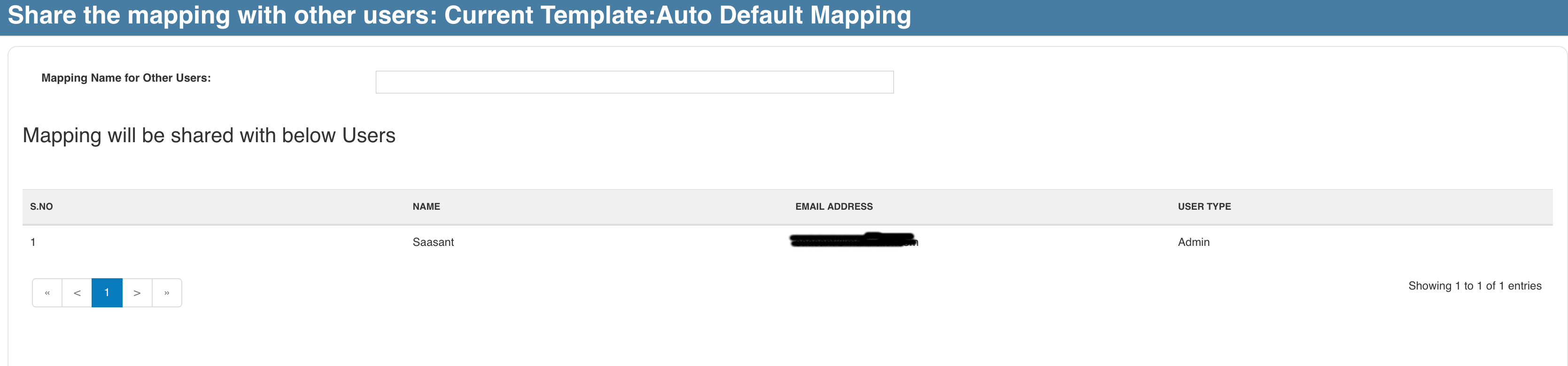 share mappings in quickbooks