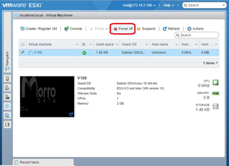 Install V100 on vSphere ESXi 6 5 : Morro Data - Support Center