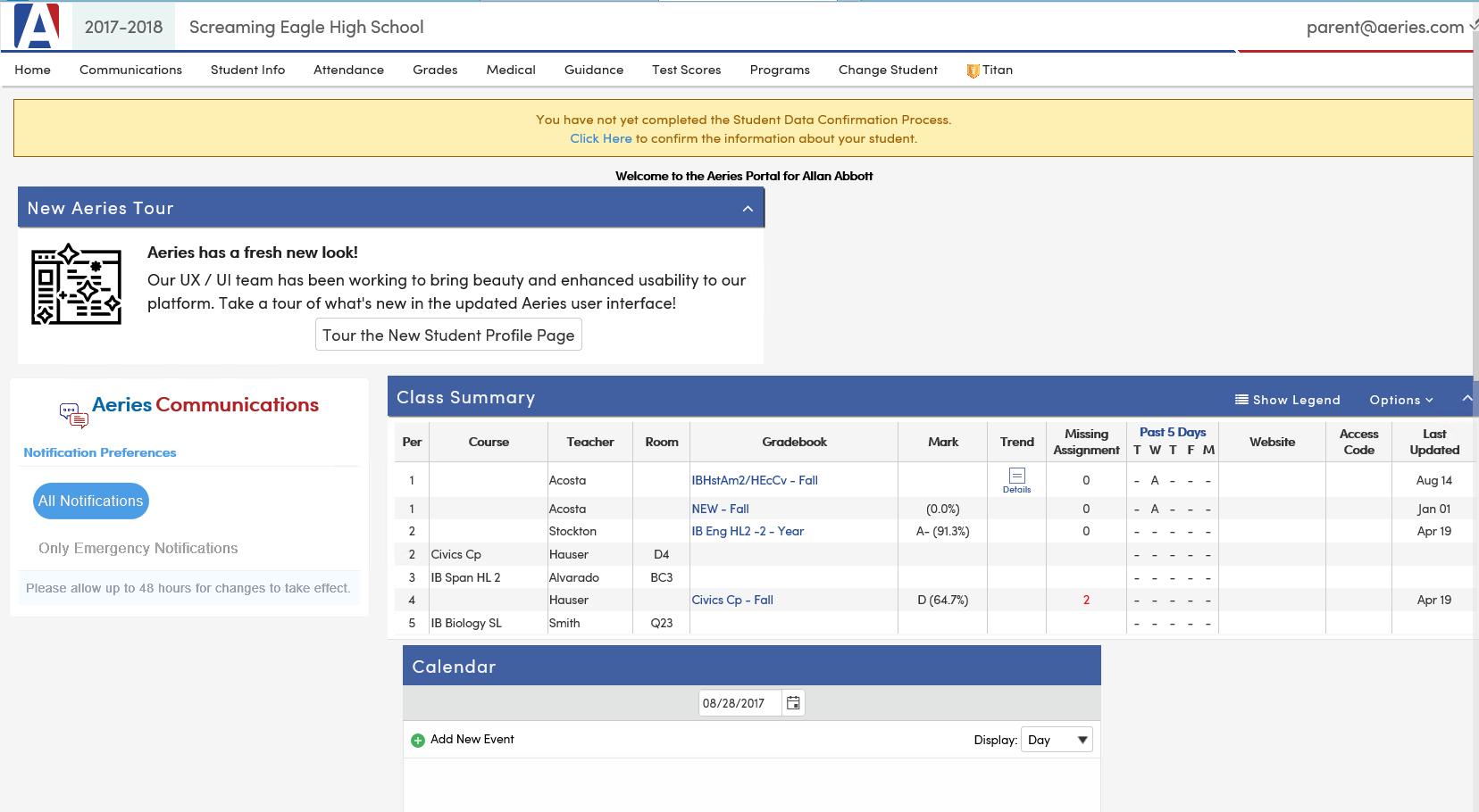 Parent Portal : Aeries Software