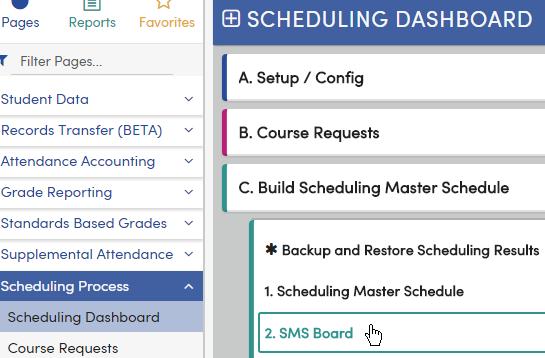 Scheduling Master Schedule Board : Aeries Software