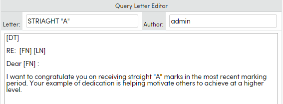 Query letters aeries software the letter has been previously created in query letter editor several queries need to be generated to separate out data prior to selecting the letter thecheapjerseys Gallery