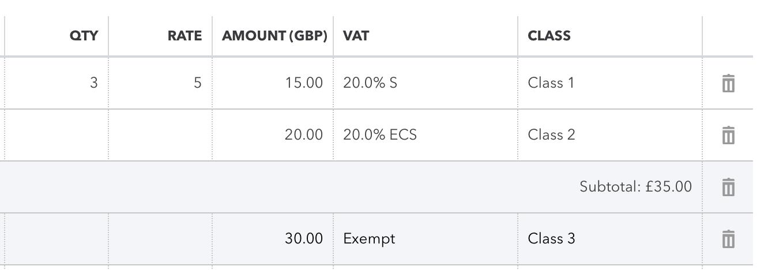 quickbooks importing Sub Total Lines