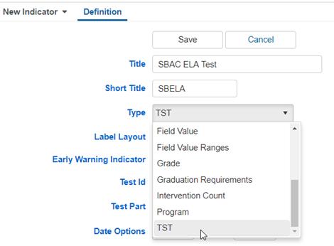 Testing Indicator