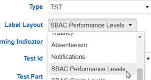 Testing Indicator Layout
