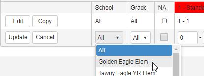 Add Indicator Threshold for Grade Level screenshot